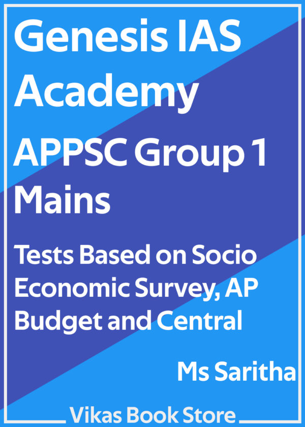 Genesis IAS - APPSC Group 1 Mains Economic Survey and Budgets by Ms Sarita