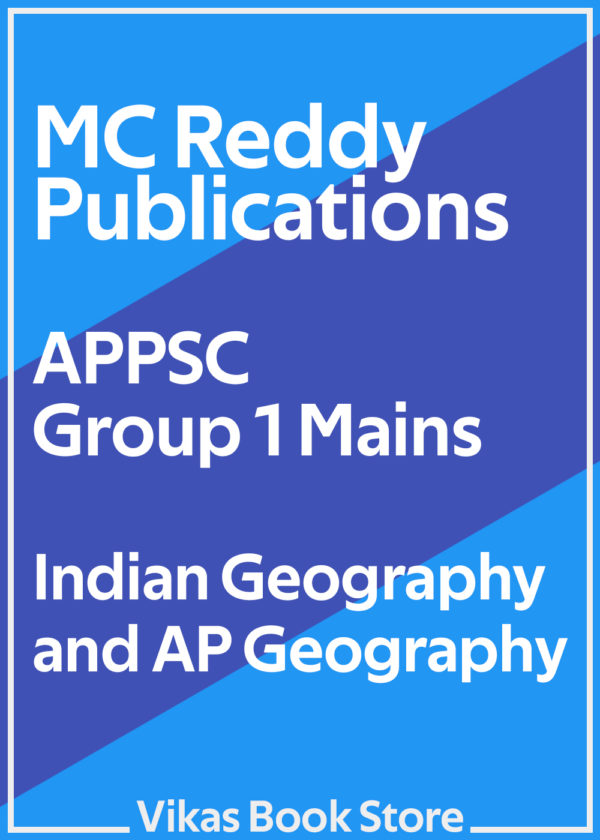 MC Reddy - APPSC Group 1 Mains Indian Geography and AP Geography