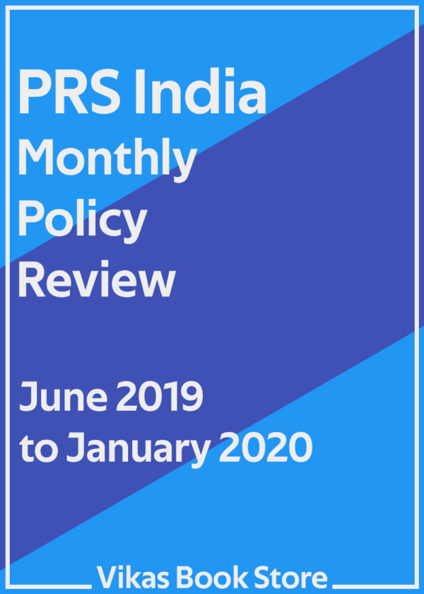 PRS India - Monthly Policy Review (June 2019 to January 2020)
