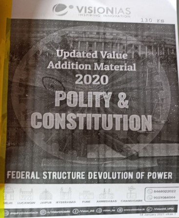 Vision IAS - Polity & Constitution (Material 2020)